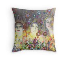 3 Goddesses Throw Pillow
