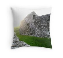 Ancient Chapel Scotland Throw Pillow