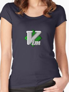 Vim - Text Editor - Since 1991 Women's Fitted Scoop T-Shirt