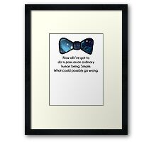 Ordinary human being Framed Print