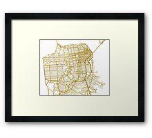 San Francisco map Framed Print