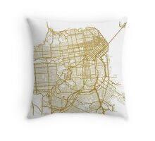 San Francisco map Throw Pillow