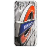 Westminster Station Underground iPhone Case/Skin