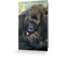 Boy this nut is HARD! Greeting Card