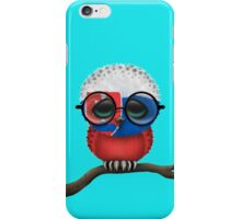 Nerdy Slovakian Baby Owl on a Branch iPhone Case/Skin