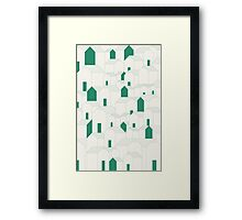 Hill Houses Framed Print