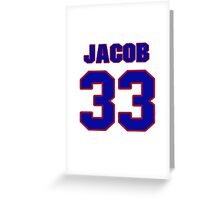 National Hockey player Jacob Markstrom jersey 33 Greeting Card