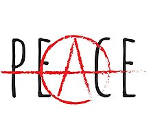 Peace/Anarchy Photographic Print