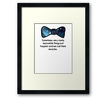 Impossible things happen Framed Print