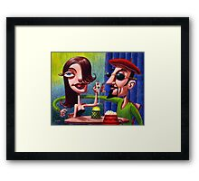 Swingin' Cats at the Hep Cafe Framed Print