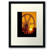 Sunset Dial Framed Print