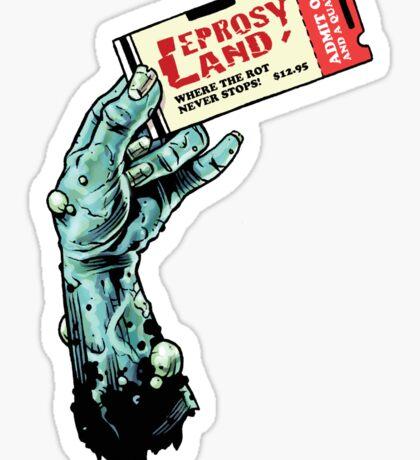 Leprosy Land! Sticker