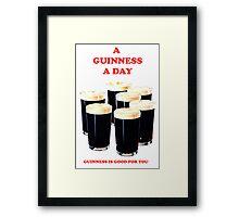 a pint a day Framed Print