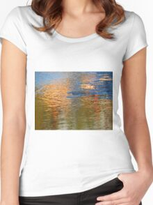 Colored Water - Abstract II  (1505018670VA) Women's Fitted Scoop T-Shirt