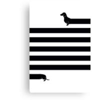 (Very) Long Dog Canvas Print