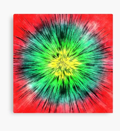 Colorful Vintage Tie Dye Canvas Print