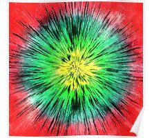 Colorful Vintage Tie Dye Poster