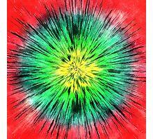Colorful Vintage Tie Dye Photographic Print