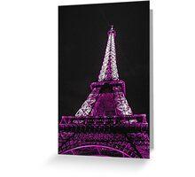 Eiffel Tower- Purple Greeting Card