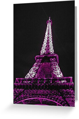 Eiffel Tower- Purple by Tom  Reynen