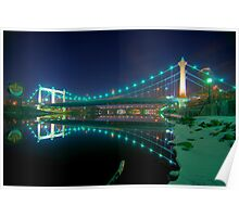 Hennepin Avenue Bridge, Winter's Night Poster