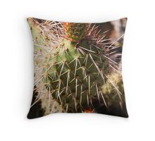 Scarlet Cactus Throw Pillow