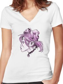 DedTedHed Purple Women's Fitted V-Neck T-Shirt