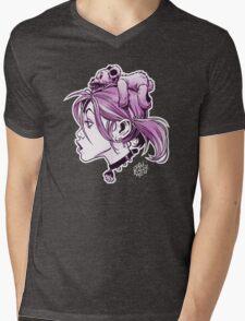 DedTedHed Purple Mens V-Neck T-Shirt