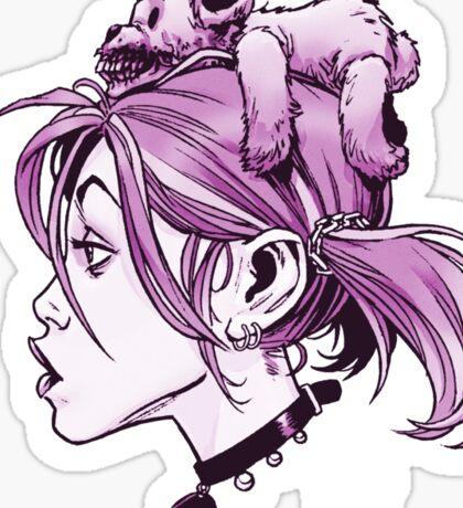 DedTedHed Purple Sticker