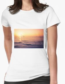 lovely view from Sankt Peter-Ording beach Womens Fitted T-Shirt