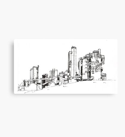 Gas Works Park Pen Sketching Canvas Print