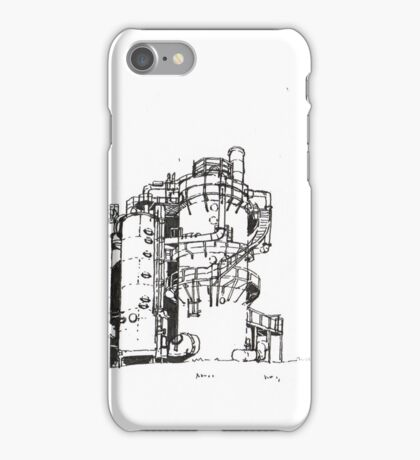 Gas Works Park Pen Sketching iPhone Case/Skin