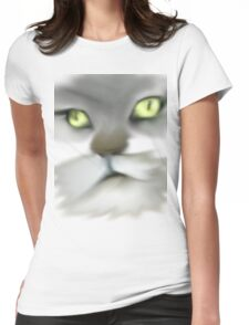 LOGAN MAINE COON KITTY FACE Womens Fitted T-Shirt