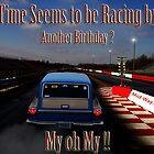 Drag Racing Birthday Card  by kelleybear