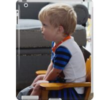 Max watching Thomas the Train iPad Case/Skin