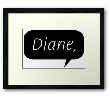 Diane, Framed Print