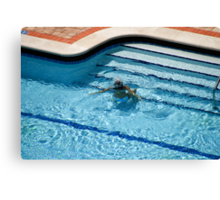 Woman in Pool Underwater Canvas Print