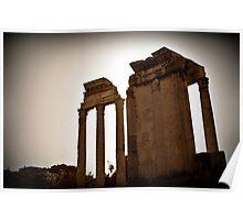 Temples of Vesta & Castor & Pollux, Rome, Italy Poster