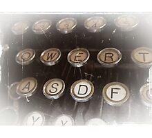 Antique typewriter Photographic Print