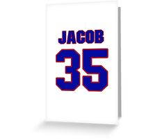 National Hockey player Jacob Markstrom jersey 35 Greeting Card