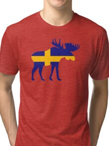 Moose elk Sweden Tri-blend T-Shirt
