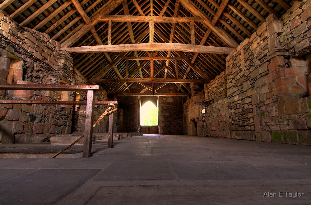 Upstairs Dormitory, Valle Crucis Abbey by Alan E Taylor