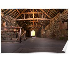 Upstairs Dormitory, Valle Crucis Abbey Poster