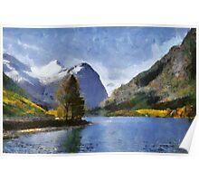 Briksdal glacier, Oldevatnet lake, Norway Poster