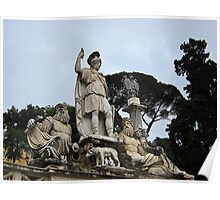 Fontana della dea di Roma, Piazza Del Popolo, Rome, Italy Poster
