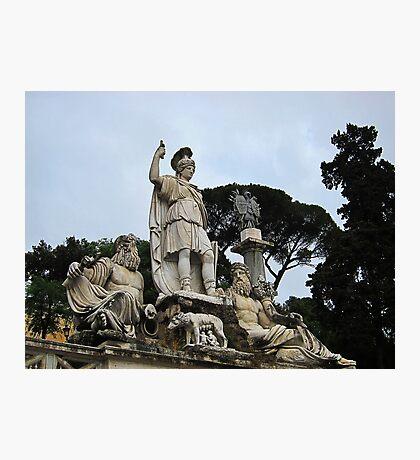 Fontana della dea di Roma, Piazza Del Popolo, Rome, Italy Photographic Print