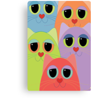 CAT FACES FIVE Canvas Print