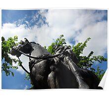 Emperor Nerva statue, Gloucester, UK Poster