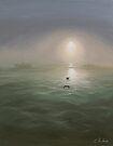 Seagulls in the mist by Elisabeth Dubois