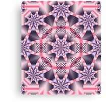 Pink and purple fantasy floral kaleidoscope Canvas Print